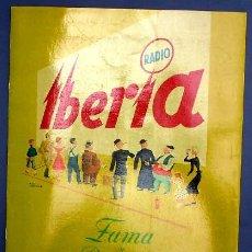 Radios antiguas: RADIO IBERIA. PROPUESTAS PARA LA CAMPAÑA DE PUBLICIDAD DE 1953. Lote 26169194