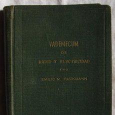 Radios antiguas: VADEMECUM DE RADIO Y ELECTRICIDAD. Lote 18397995