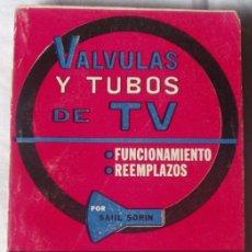 Radios antiguas: VALVULAS Y TUBOS DE TV ( FUNCIONAMIENTO Y REEMPLAZOS), POR SAUL SORIN. Lote 26794550