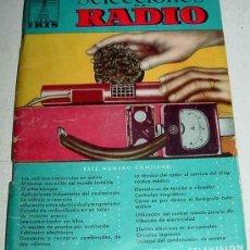 Radios antiguas: ANTIGUO LIBRO DE RADIO - SELECCIONES RADIO IRIS NUM. 15 - 96 PAGINAS - AÑOS 50 - MIDE 19,5 X 14 CMS. Lote 7041535