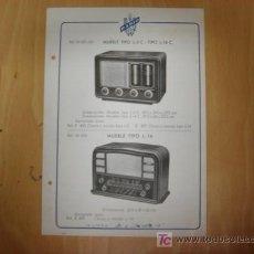 Alte Radios - LAMINA PUBLICIDAD RADIO MAR AÑOS 50 - 7913030