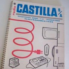 Radios antiguas: RADIO CASTILLA S.A.-LISTÍN DE PRECIOS-SEPTIEMBRE 1964-COMPONENTES : RADIO, T.V., TRANSISTORES, -. Lote 23674114
