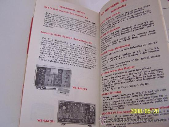 Radios antiguas: RCA-REFERENCE BOOK-1965-IBERONICS, S.A.-MAD.RADIO CORPORATION OF AMERICA.ELEC. COMP. AND DEVICES - Foto 8 - 77672406