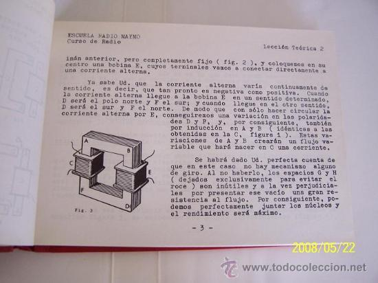 Radios antiguas: ESCUELA RADIO MAYMÓ- CURSO DE RADIO-19 LECCIONES DE TEÓRICA1º- ENCUADERNADAS.-1958?.ILUSTRADAS. - Foto 3 - 23844999