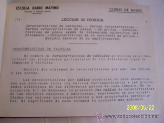 Radios antiguas: ESCUELA RADIO MAYMÓ-CURSO DE RADIO-19 LECCIONES DE TEÓRICA-( 20/38) ENCUADERNADAS.-1958?.ILUSTRADAS. - Foto 2 - 23845000