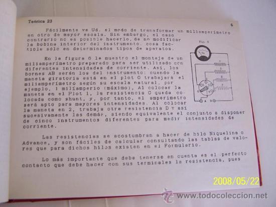 Radios antiguas: ESCUELA RADIO MAYMÓ-CURSO DE RADIO-19 LECCIONES DE TEÓRICA-( 20/38) ENCUADERNADAS.-1958?.ILUSTRADAS. - Foto 3 - 23845000
