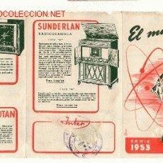 Radios antiguas: TRÍPTICO DE RADIOS MARCA INTER. Lote 26113066