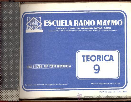 ESCUELA RADIO MAYMO (Radios, Gramófonos, Grabadoras y Otros - Catálogos, Publicidad y Libros de Radio)