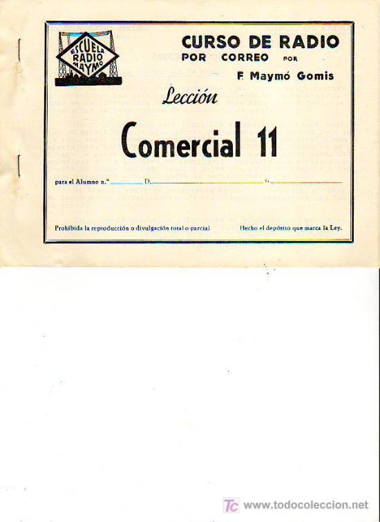 Radios antiguas: CURSO DE RADIO POR CORREO POR F.MAYMÓ GOMIS - ESCUELA RADIO MAYMÓ - TG1 - Foto 4 - 26252103