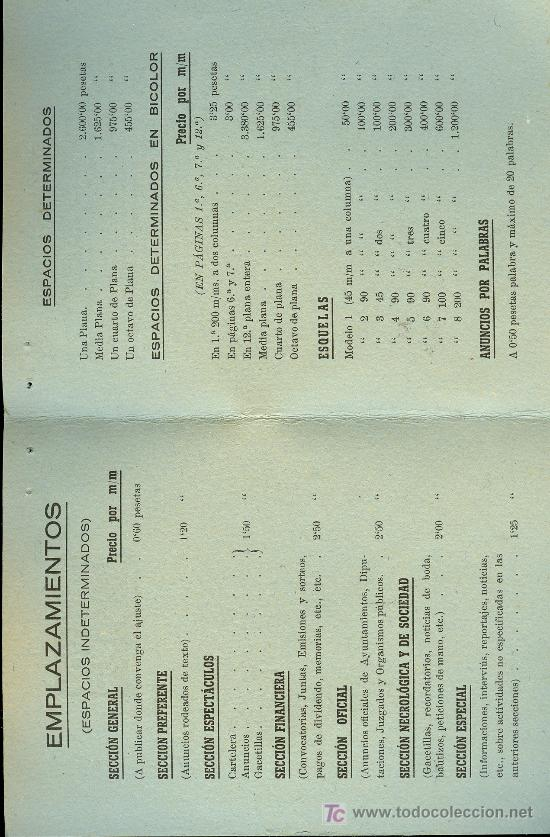 Radios antiguas: TARIFA DE PUBLICIDAD DE RADIO LA VOZ DEL SUR. CADIZ. 1 DE ENERO 1949 - Foto 2 - 18214199