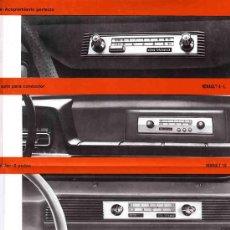 Radios antiguas: CATALOGO DE RADIO DE WALD AUTO-RADIO UN MODELO PARA CADA COCHE. Lote 11218301