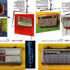 Radios antiguas: CATALOGO DE RADIO DE WALD HORAS FELICES 8 MODELOS DISTINTOS. Lote 11218336