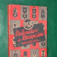 Radios antiguas: MANUAL DE VÁLVULAS DE RECEPCION, RC14C, CON EL SUPLEMENTO N.3 Y SUBSTITUCION DE VALVULAS 1947. Lote 14642013