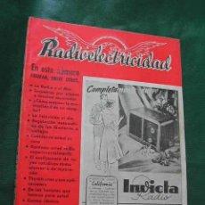 Radios antiguas: REVISTA RADIOELECTRICIDAD N.139 OCTUBRE 1950. Lote 13040853