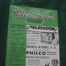 Radios antiguas: REVISTA RADIOELECTRICIDAD N.167 FEBRERO 1953. Lote 13040248