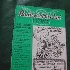 Radios antiguas: REVISTA RADIOELECTRICIDAD N.182 MAYO 1954. Lote 22875141