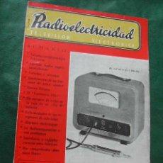 Radios antiguas: REVISTA RADIOELECTRICIDAD N.184 JULIO 1954. Lote 25855264
