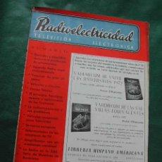 Radios antiguas: REVISTA RADIOELECTRICIDAD N.185 AGOSTO 1954. Lote 25855263