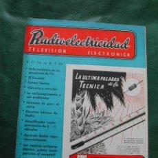 Radios antiguas: REVISTA RADIOELECTRICIDAD N.186 SEPTIEMBRE 1954. Lote 25855262
