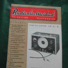 Radios antiguas: REVISTA RADIOELECTRICIDAD N.188 NOVIEMBRE 1954. Lote 25855260