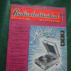 Radios antiguas: REVISTA RADIOELECTRICIDAD N.189 DICIEMBRE 1954. Lote 25855259