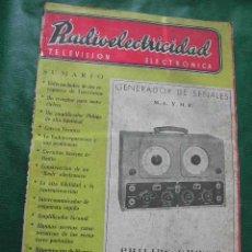 Radios antiguas: REVISTA RADIOELECTRICIDAD N.190 ENERO 1955. Lote 25855258