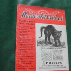 Radios antiguas: REVISTA RADIOELECTRICIDAD N.116 NOVIEMBRE 1948. Lote 13040380