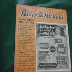 Radios antiguas: REVISTA RADIOELECTRICIDAD N.117 DICIEMBRE 1948. Lote 40381079