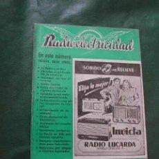 Radios antiguas: REVISTA RADIOELECTRICIDAD N.121 ABRIL 1949. Lote 13041251