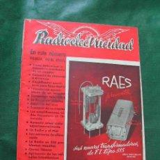 Radios antiguas: REVISTA RADIOELECTRICIDAD N.125 AGOSTO 1949. Lote 25855410
