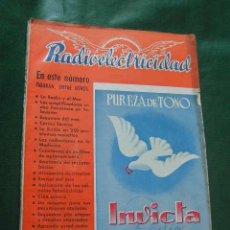 Radios antiguas: REVISTA RADIOELECTRICIDAD N.127 OCTUBRE 1949. Lote 13041213