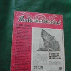 Radios antiguas: REVISTA RADIOELECTRICIDAD N.132 MARZO 1950. Lote 13040875