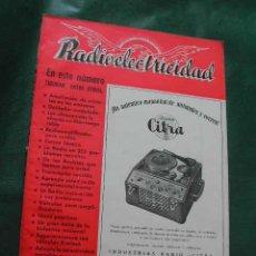 Radios antiguas: REVISTA RADIOELECTRICIDAD N.149 AGOSTO 1951. Lote 13041456
