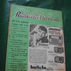 Radios antiguas: REVISTA RADIOELECTRICIDAD N.153 DICIEMBRE 1951. Lote 13041379