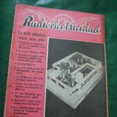 Radios antiguas: REVISTA RADIOELECTRICIDAD N.154 ENERO 1952. Lote 13040590