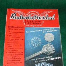 Radios antiguas: REVISTA RADIOELECTRICIDAD N.179 FEBRERO 1954. Lote 13038638