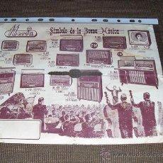 Radios antiguas: FLYER PUBLICITARIO DE IBERIA, RADIOS Y TELEVISORES.. Lote 20530981