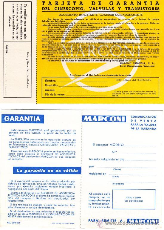 Radios antiguas: MANUAL DE INSTRUCCIONES TV MARCONI AÑOS 60 - Foto 3 - 13563850