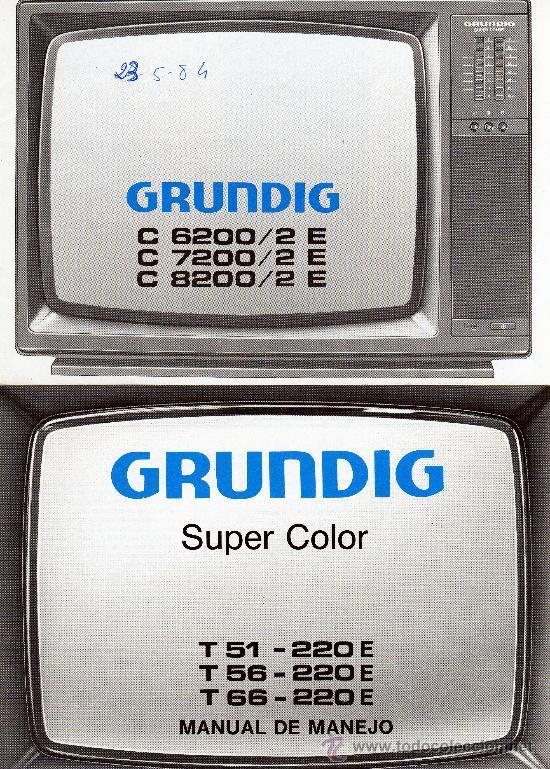 manuales de instrucciones tv grundig a os 80 comprar cat logos de rh todocoleccion net Grundig TV 1996 Grundig TV VHS
