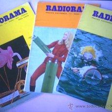 Radios antiguas: REVISTAS RADIORAMA. Lote 25504145