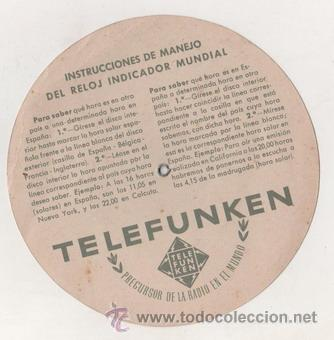Radios antiguas: INTERESANTE DISCO HORARIO DE TELEFUNKEN - Foto 3 - 13674084