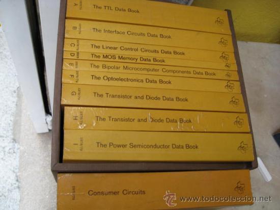 10 LIBROS SEMICONDUCTORES - MEMORIA -TRANSISTORES DIODOS -DE POTENCIA ETC VER LISTA-TEXAS INSTRUMENT (Radios, Gramófonos, Grabadoras y Otros - Catálogos, Publicidad y Libros de Radio)