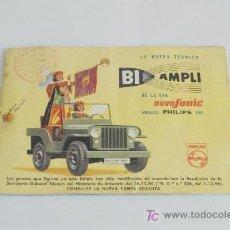 Radios antiguas: CATÁLOGO DE RADIO PHILIPS. 1957.. Lote 22553276