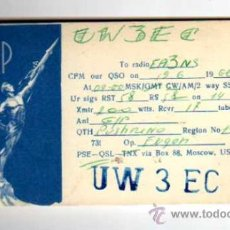 QSL CARD - TARJETA RADIOAFICIONADO - USSR - MOSCOW