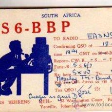 Alte Radios - QSL CARD - TARJETA RADIOAFICIONADO - SOUTH AFRICA - 17919522