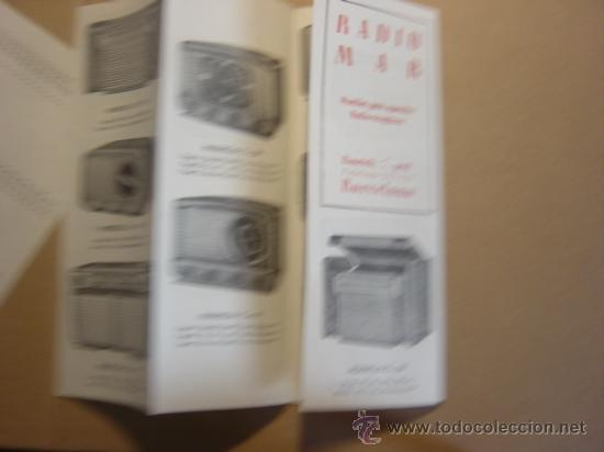 Radios antiguas: TRIPTICO CATALOGO PUBLICIDAD RADIO MAR, MUEBLES PARA APARATOS Y RADIOS 1952 - Foto 3 - 27294986