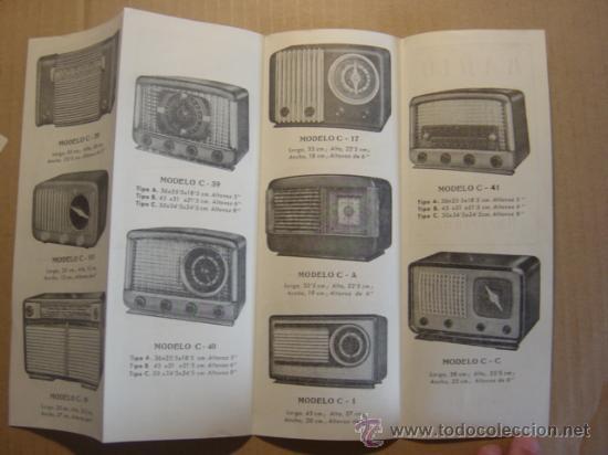 Radios antiguas: TRIPTICO CATALOGO PUBLICIDAD RADIO MAR, MUEBLES PARA APARATOS Y RADIOS 1952 - Foto 5 - 27294986