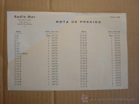 Radios antiguas: TRIPTICO CATALOGO PUBLICIDAD RADIO MAR, MUEBLES PARA APARATOS Y RADIOS 1952 - Foto 6 - 27294986