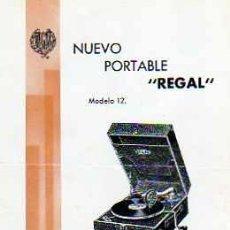 Radios antiguas: CATALOGO NUEVO PORTABLE REGAL . Lote 20213989