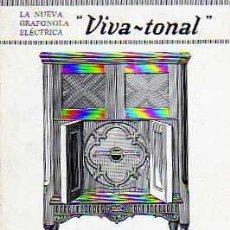 Radios antiguas: CATALOGO NUEVA GRAFONOLA ELECTRICA VIVA-TONAL MODELO 920. Lote 20214017